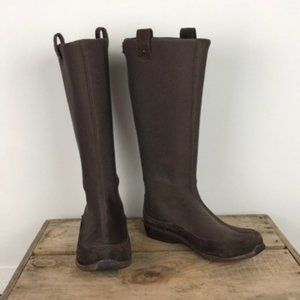 AETREX berries neoprene / leather pull on boots